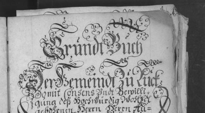 Pozemková kniha – Gruntovní kniha pro Lukavec 1707 – 1796
