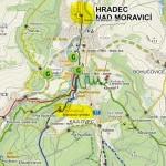 Počátek trasy a Bezručova vyhlídka, zdroj: www.toursmapy.cz