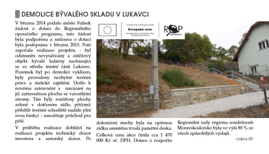 Zdroj: Fulnecký zpravodaj, 10/2015