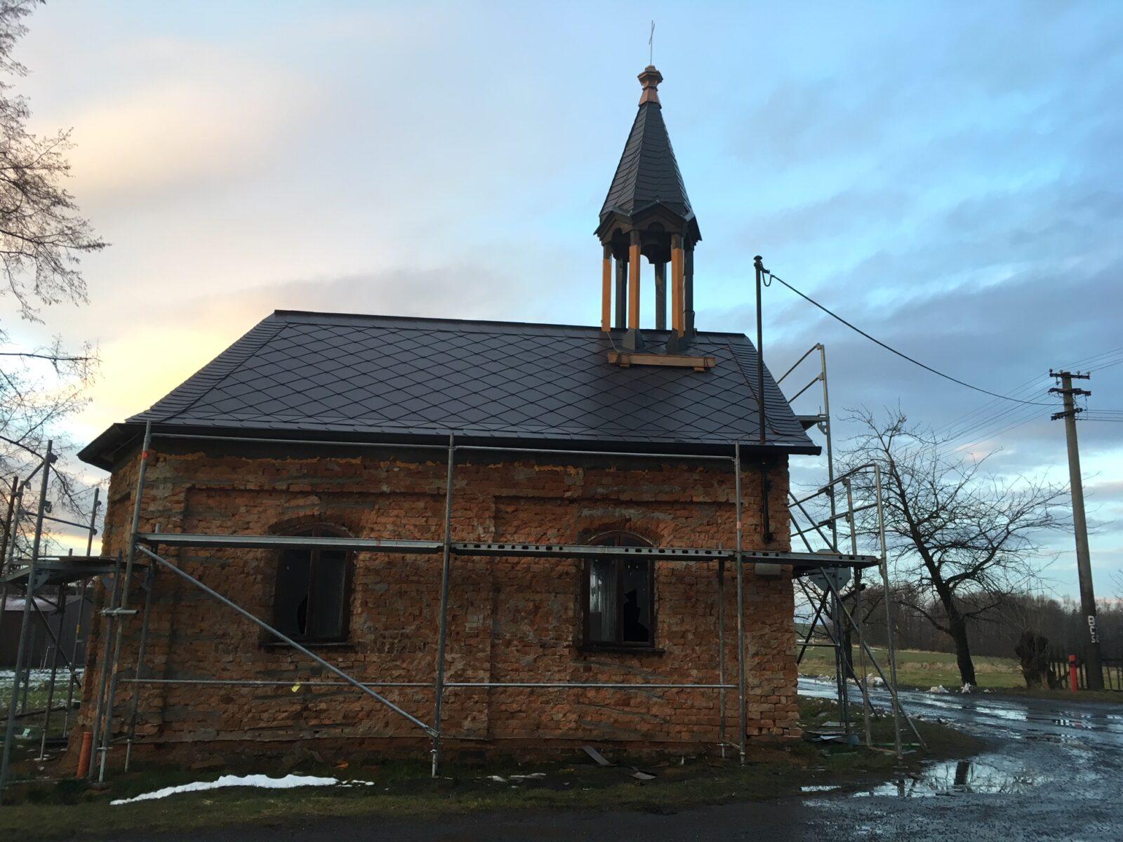 Kaple v renovaci, 12/2017