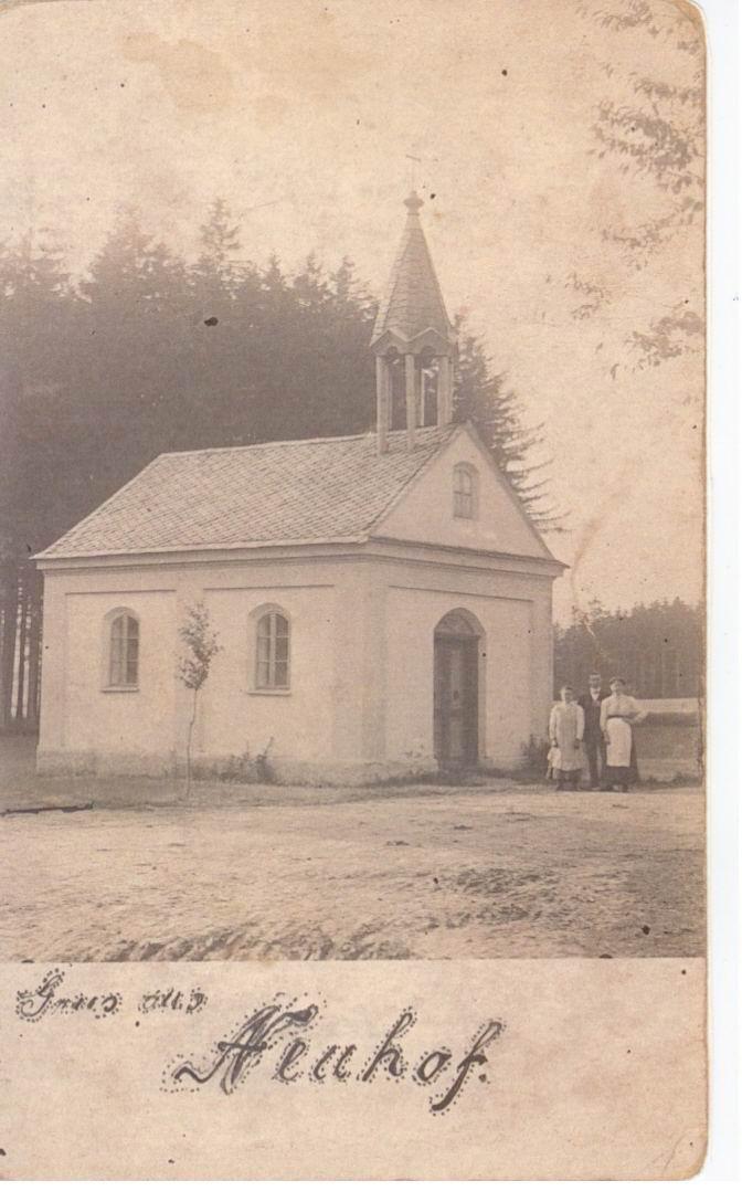 Kaple na poč. 20. století, po roce 1905