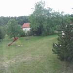 Výhled z okna jídelny, 16. 6. 2007